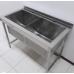 Ванна мийна зварна 2-секційна з полицею, ширина 700 мм, глибина 400мм ЕКОНОМ ВСП-2 АРТЕ-Н, 4898.00 грн