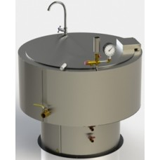 Котел харчовий промисловий, 250 л, ПВО з вуглицевої сталі ПРОФІ КЭ-250 АРТЕ-Н, 50830.00 грн