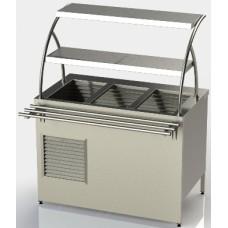 Прилавок холодильний без охолоджуваного боксу з двома полицями, довжина 1200 ПХ-2 АРТЕ-Н, 36421.00 грн