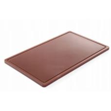 Дошка обробна 530x325x15, коричнева HACCP GN 1/1 Hendi, 721.00 грн