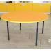 Стіл дитячий круглий регульований по висоті Ø22 в Ø27 з кольоровим декором, 923.00 грн