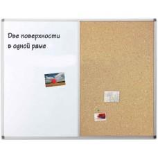 Дошка корково-маркерна, 60 на 90 см UkrBoards UB60x90WС, 589.00 грн