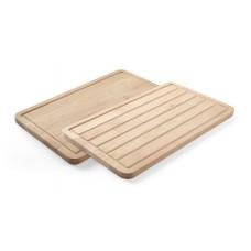 Дошка дерев'яна двостороння для хліба та традиційна 530x325x20 мм Hendi, 837.00 грн