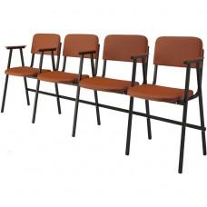 Крісло для актового залу 4-місне з підлокітниками, тканина Алісія Квартет, 702.00 грн
