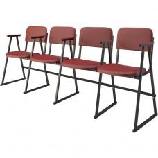Крісло для актового залу 4-місне з підлокітниками на лижах, тканина Алісія Квартет, 744.00 грн