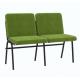 Крісло для актового залу 2-місне, тканина Тревісімо Дует