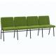 Крісло для актового залу 4-місне, тканина Тревісімо Квартет