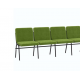 Крісло для актового залу 5-місне, тканина Тревісімо Квінтет