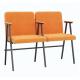 Крісло для актового залу 2-місне з підлокітником, тканина Тревісімо Дует