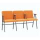 Крісло для актового залу 3-місне з підлокітником, тканина Тревісімо Тріо