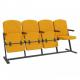 Крісло для актового залу 4-місне, тканина Алоба Класіко F-стійка Квартет