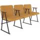 Крісло для актового залу 2-місне з підлокітником на лижах, тканина Тревісімо Дует