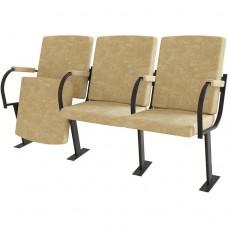 Крісло для актового залу, театру 3-місне, тканина Алоба Лігас Тріо, 1448.00 грн