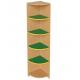 Шафа кутова для дитячого садка з деревоподібним та кольоровим декором, 4 полиці Д-7/4 320х320х1490