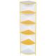 Шафа кутова для дитячого садка з білим та кольоровим декором, 4 полиці Д-7/4 320х320х1490
