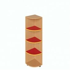 Шафа кутова для дитячого садка з деревоподібним та кольоровим декором, 3 полиці Д-7/3 320х320х1210, 805.00 грн