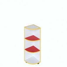 Шафа кутова для дитячого садка з білим та кольоровим декором, 2 полиці Д-7/2 320х320х930, 623.00 грн