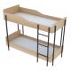 Ліжко дитяче двоспальне, двоярусне - лежак ДСП ламінований