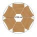 Стіл Трикутник 1-місний регульований по висоті з кольоровим декором, 747.00 грн