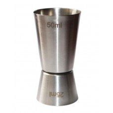 Джиггер Hauser 50мл / 25мл. Мірний стакан з нержавіючої сталі, 154.00 грн