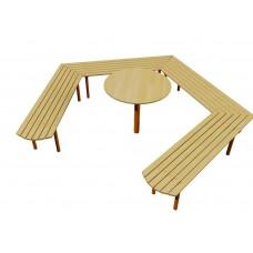 Скамейка Звезда со столиком Kidigo (VMVL012), 9920.00 грн