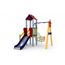 Детский комплекс Бабочка, высота горки 0,9 м  Kidigo (11642), 34370.00 грн
